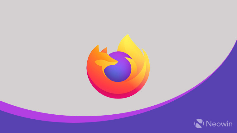 The Firefox logo on a grey and purple background