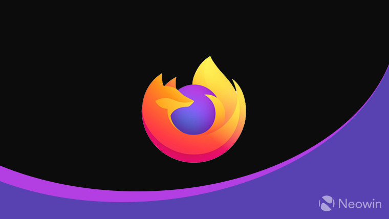 The Firefox logo on a black and purple background