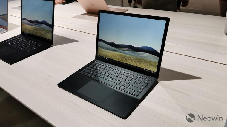 A black Surface Laptop 3