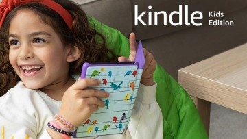 girl reading from a kindle kids edition