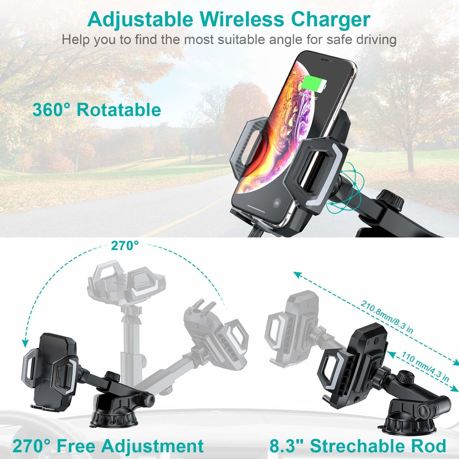 usb wireless car charger