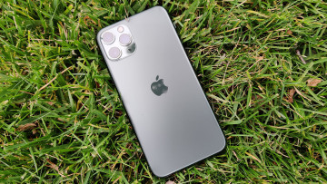 iPhone 11 Pro in the grass