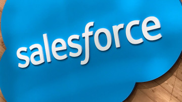 salesforce logo sign