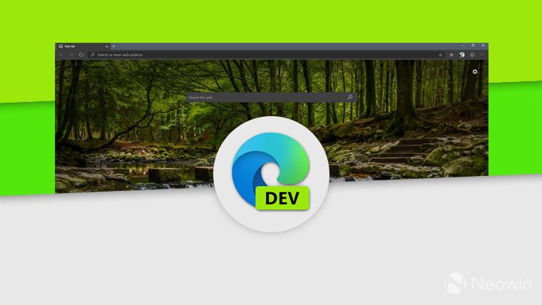 يعتمد تصميم Edge Dev هذا الأسبوع على Chromium 83 ، ويضيف مزامنة الإضافة 1