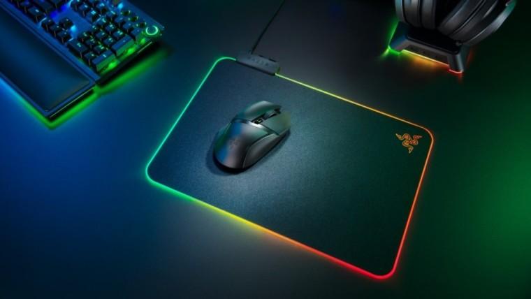 A Razer Basilisk X Hyperspeed mouse on a mousepad