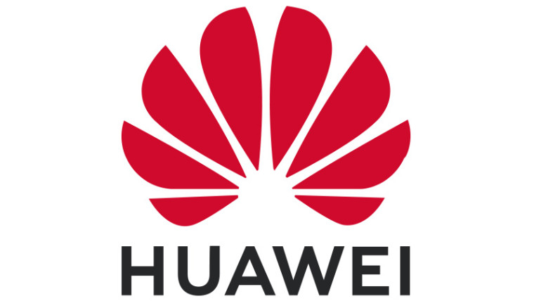 The Huawei logo on a white background