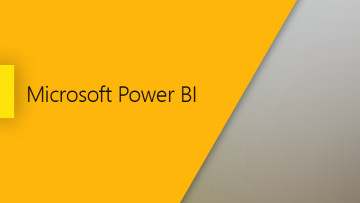 Microsoft Power BI yellow on the left grey on the right