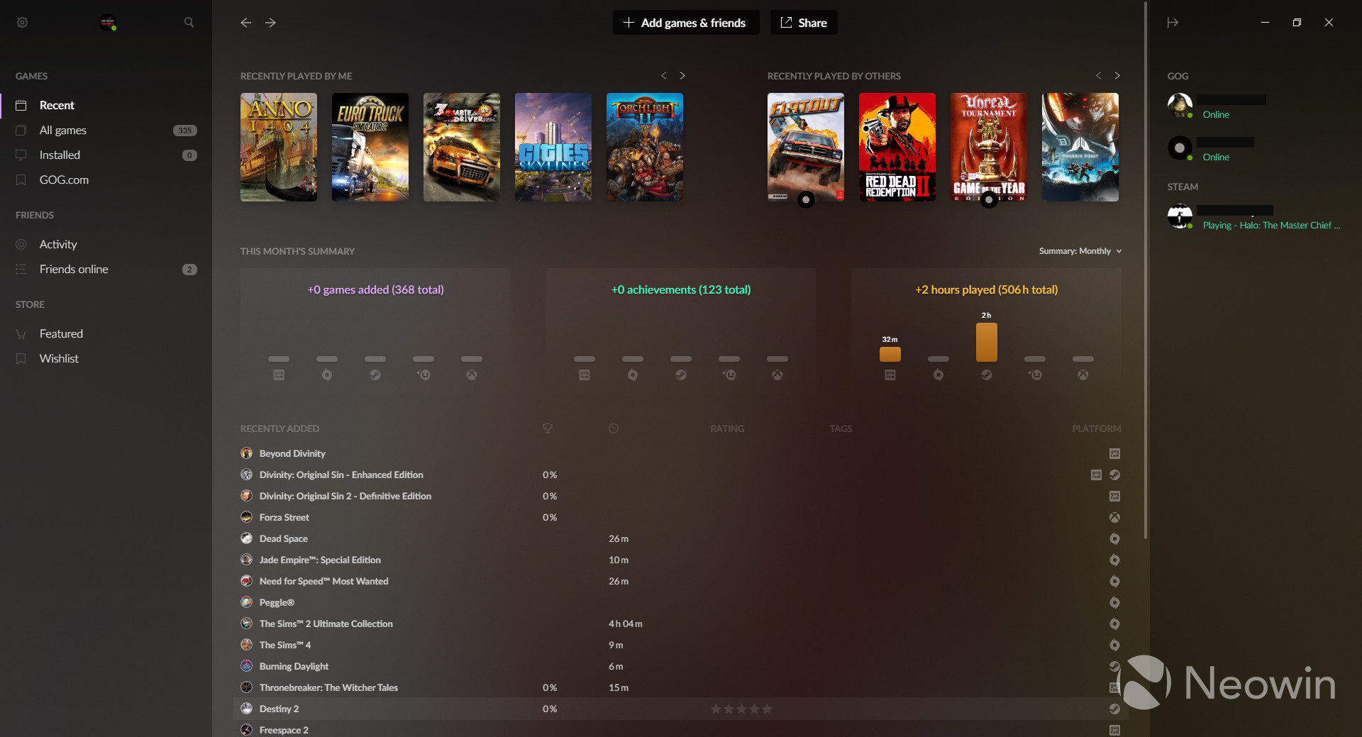GOG Galaxy 220.20's Argus Update adds sharing of stats, cross ...