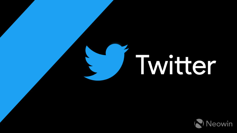The Twitter logo on a black and blue background