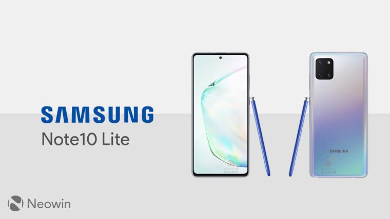 Samsung Galaxy Note10 Lite detailed spec sheet leaks - Neowin