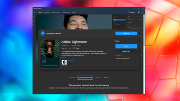 The listing for Adobe Lightroom on the Microsoft Store for Windows 10
