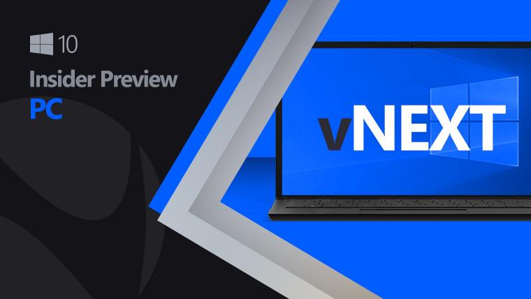 Windows 10 vNext image with cobalt and black background