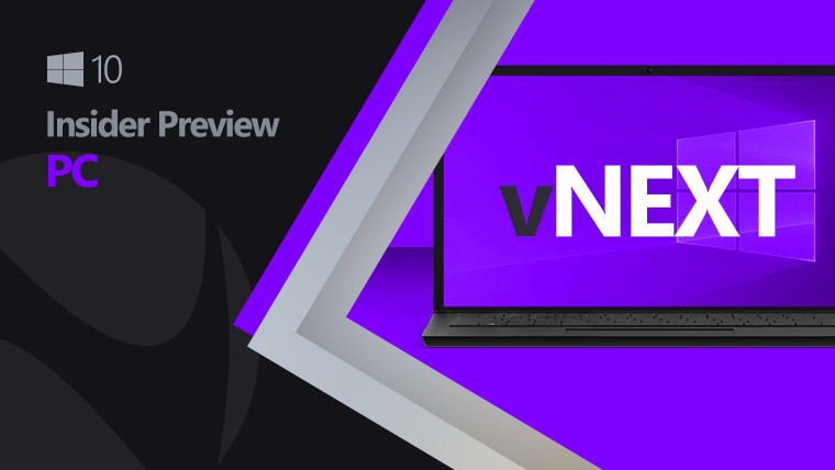 Windows 10 vNext image with purple and black background