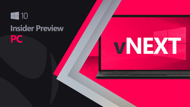 Windows 10 vNext image with black and pink background