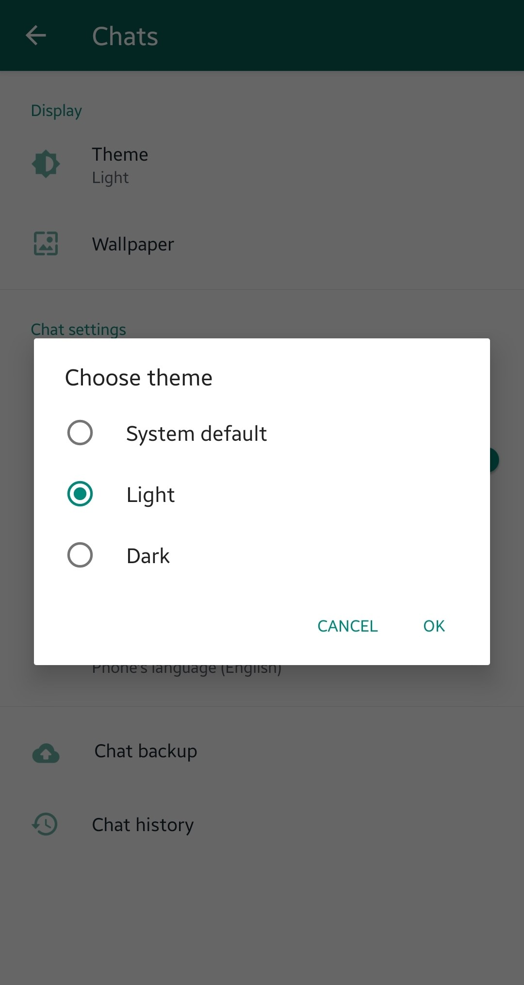 Turn your whatsapp in dark mode for your android phone and iOS.