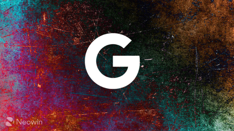 Google 'G' logo on a multicoloured background