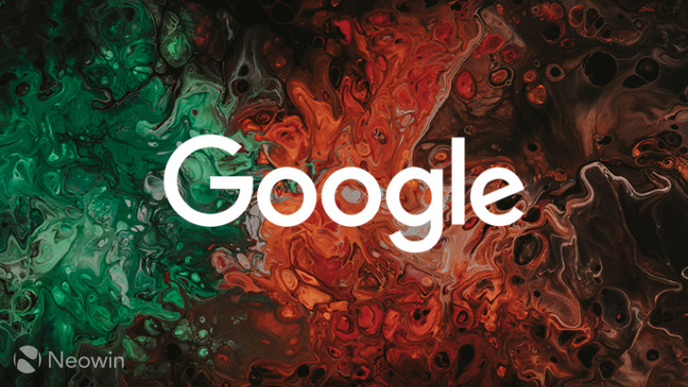 Google logo on orange and green background