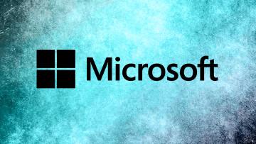 Microsoft logo on a blue background