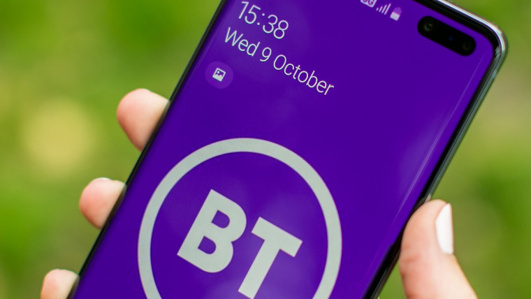 BT logo displayed on a phone