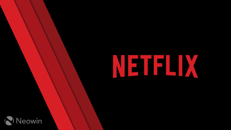 The Netflix logo on a black background