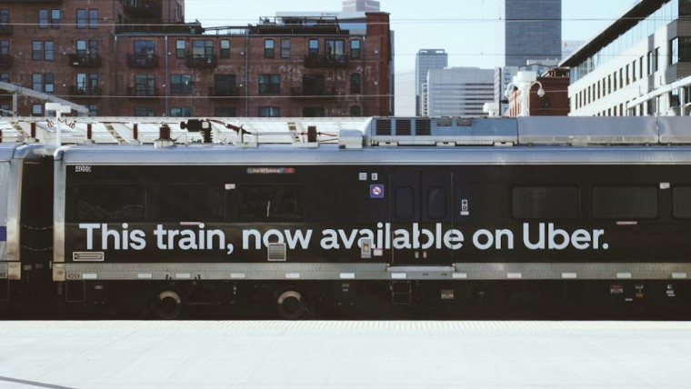 Uber advert for Make My Train service