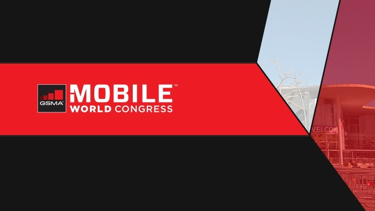 MWC logo on red and black background