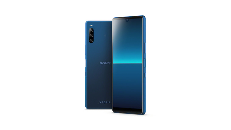 The blue version of the Sony Xperia L4