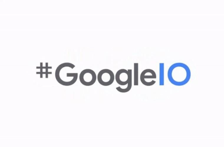 Google IO promotional image with hashtag