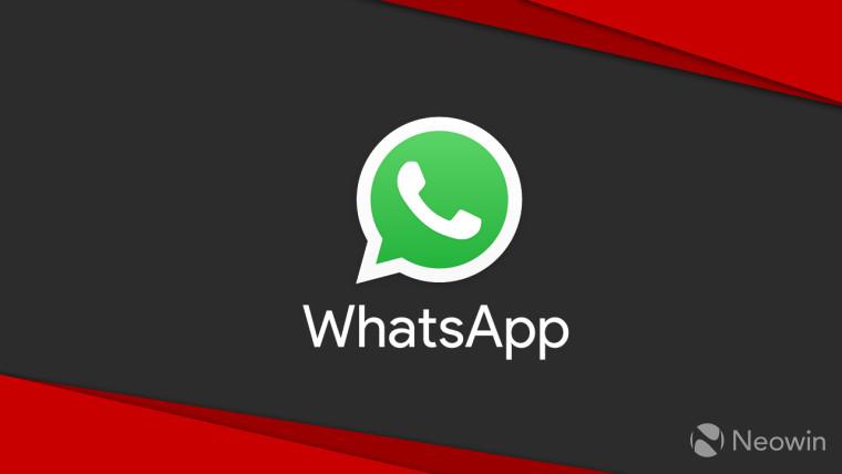 WhatsApp logo against a black background