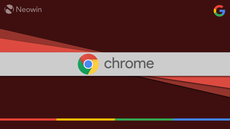Chrome logo on a red background