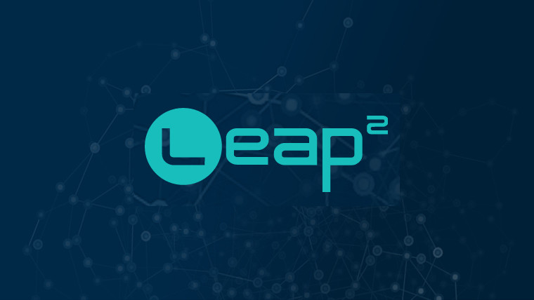 The word Leap 2 on a blue background