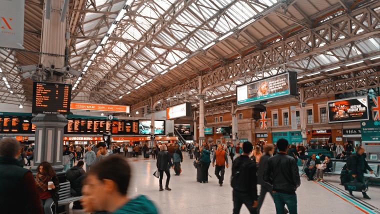 Image of UK train station