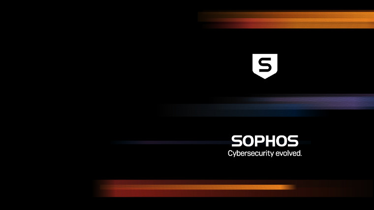 The image says Sophos cybersecurity evolved on a black background