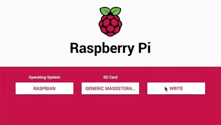 Raspberry Pi Imager user interface