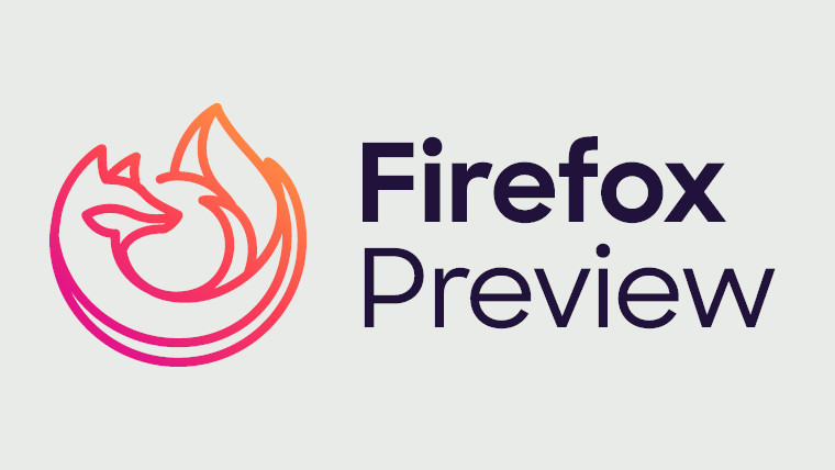 Firefox Preview logo on a grey background