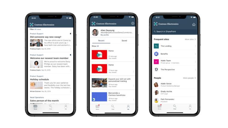 تدعم تطبيقات SharePoint mobile الآن السمات والعلامات التجارية للمؤسسات المخصصة 1