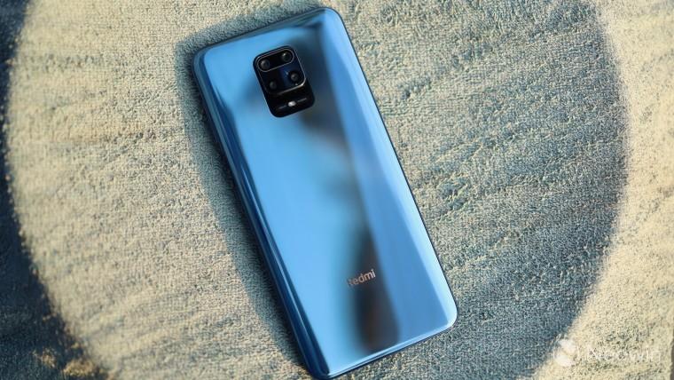 Rear of the Xiaomi Redmi Note 9 Pro smartphone