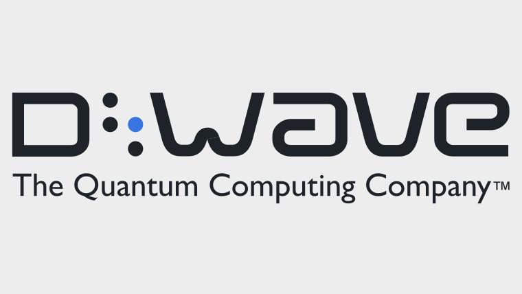 D-Wave logo on a grey background