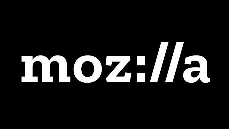The Mozilla logo on a black background