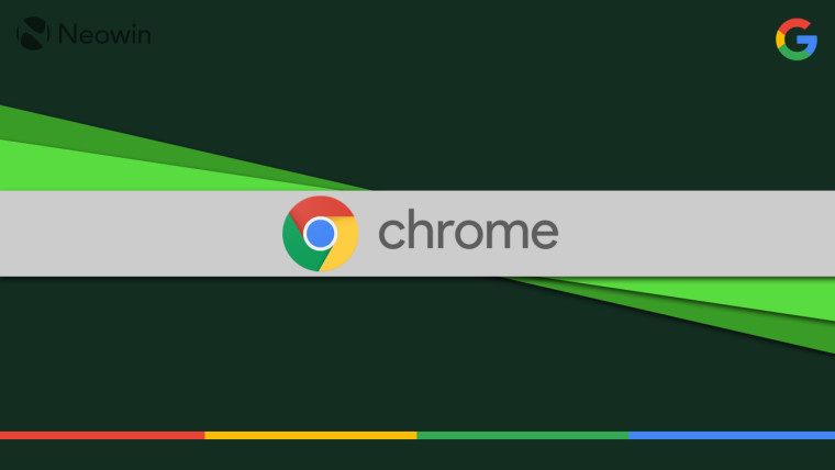 Chrome logo on a green background
