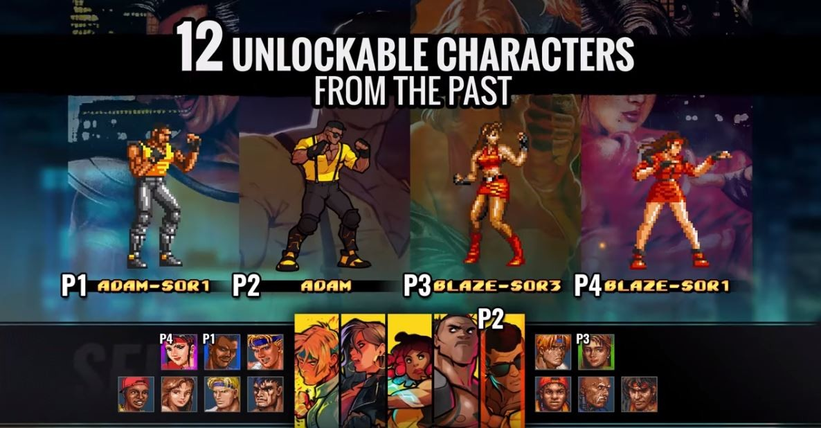 Clip from Streets of Rage 4 reveal