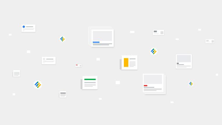 Google News Initiative image on a grey background.