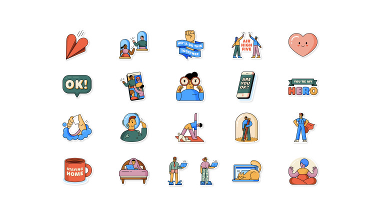 The Together at Home sticker pack for WhatsApp