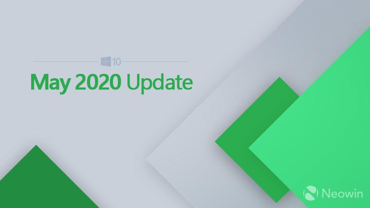 微软在2020年5月10日Windows更新上打破了新的开始