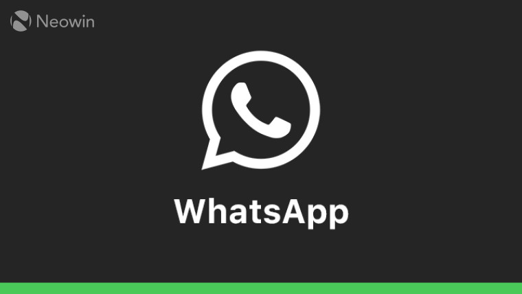 A white WhatsApp logo on a black and green background