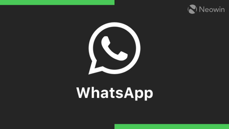 The WhatsApp logo on a black and green background