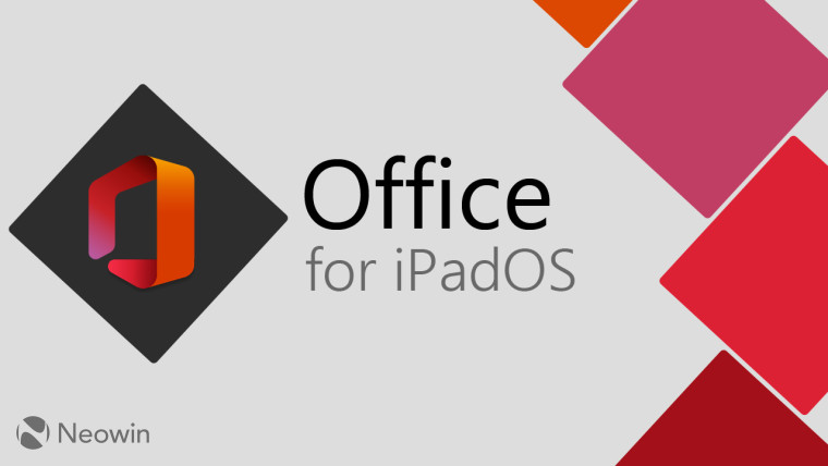 Microsoft Office logo with Office for iPadOS written