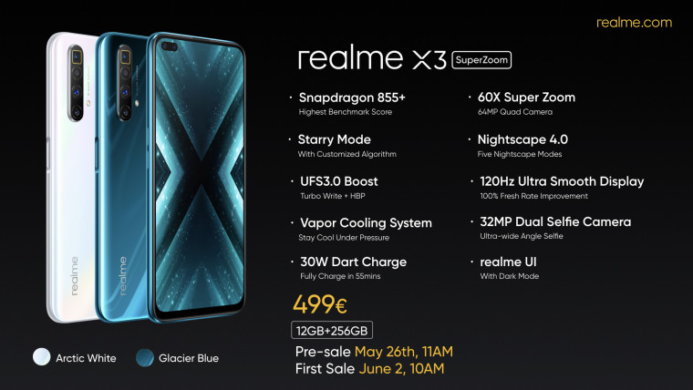 Realme X3 Superzoom With 60x Hybrid Zoom And 120hz Display Announced For Europe Neowin