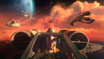 This screenshot shows the visuals of Star Wars: Squadrons.