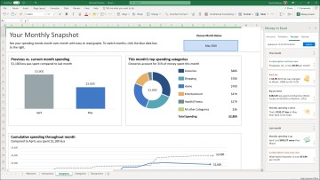 A Microsoft Excel sheet showing financial data and charts